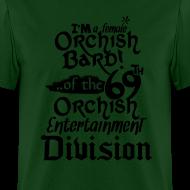 Design ~ Mens Tee: Orc Bard B/W