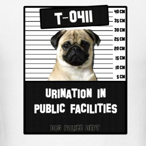 Jail Pug T-0411-1 T-Shirts - Men's T-Shirt