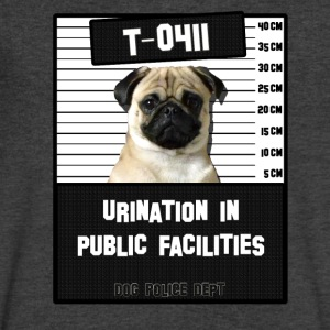 Jail Pug T-0411-1 T-Shirts - Men's V-Neck T-Shirt by Canvas