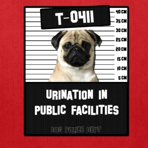 Jail Pug T-0411-1 Bags & backpacks - Tote Bag