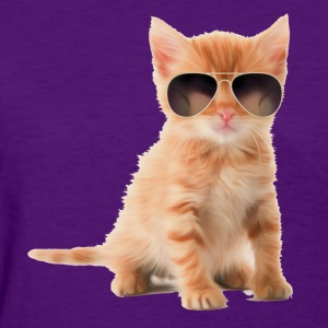 Womens Cat Aviator Shirt - Women's T-Shirt