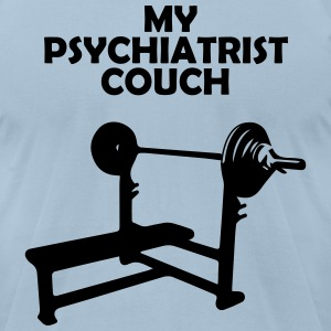 Gym Bench T-Shirts - Men's T-Shirt by American Apparel