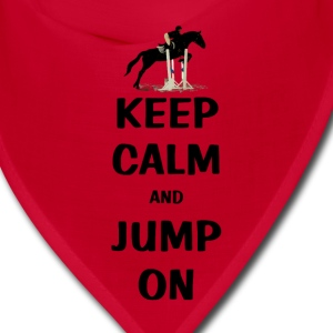 Keep Calm and Jump On Horse Caps - Bandana