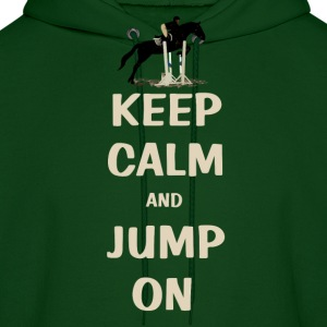 Keep Calm and Jump On Horse Hoodies - Men's Hoodie