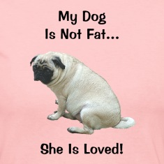 My Dog Is Not Fat Pug Dog Long Sleeve Shirts