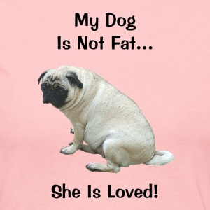 My Dog Is Not Fat Pug Dog Long Sleeve Shirts - Women's Long Sleeve Jersey T-Shirt