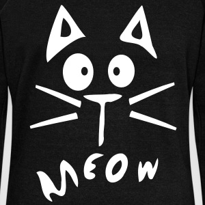 Meow cat Womens' wideneck sweatshirt - Women's Wideneck Sweatshirt