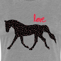 Horses, Hearts and Love Women's T-Shirts