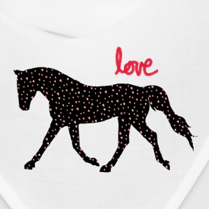 Horses, Hearts and Love Caps - Bandana