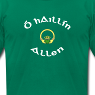 Design ~ Allen Family Claddagh Tee for Men