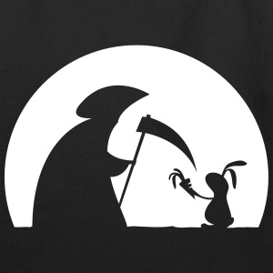 Rabbit grim reaper bunny hare cony carrot leveret Bags & backpacks - Eco-Friendly Cotton Tote