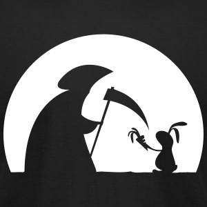 Rabbit grim reaper bunny hare cony carrot leveret T-Shirts - Men's T-Shirt by American Apparel