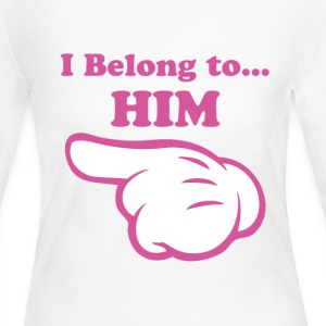I Belong to Him Long Sleeve Shirts - Women's Long Sleeve Jersey T-Shirt