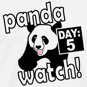 Panda watch design, inspired by Anchorman - Men's Premium T-Shirt