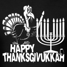Happy Thanksgivukkah Monochrome T-shirt
