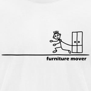 Furniture Mover with Text T-Shirts - Men's T-Shirt by American Apparel