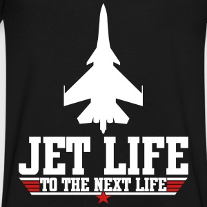 Jet life to the next life T-Shirts - Men's V-Neck T-Shirt by Canvas