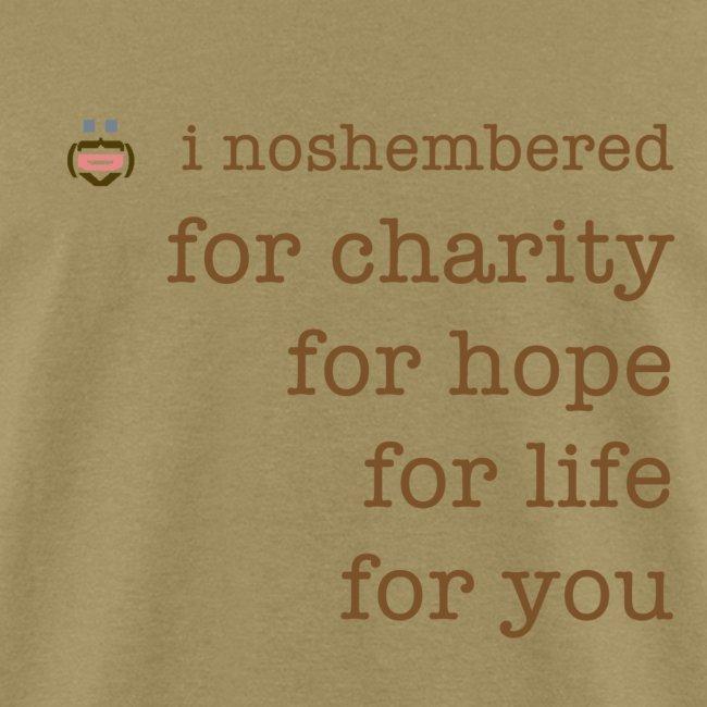 I Noshembered Dude's Tee with Noshember.com Logo