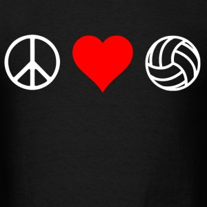 peace love volleyball - Men's T-Shirt