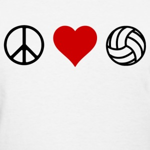peace love volleyball - Women's T-Shirt