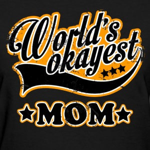 vintage world's okayest mom - Women's T-Shirt
