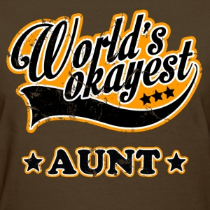 vintage world's okayest aunt - Women's T-Shirt