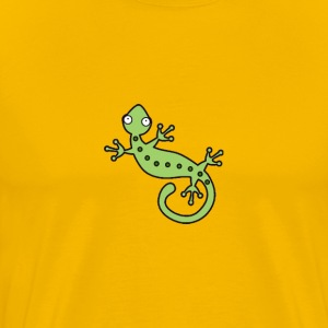 A funky green lizard design. - Men's Premium T-Shirt