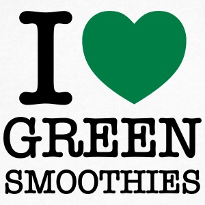 I Love Green Smoothies T-Shirts - Men's V-Neck T-Shirt by Canvas