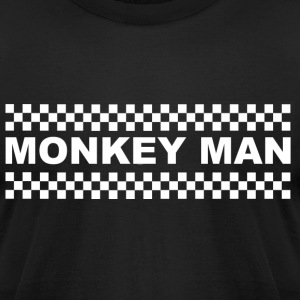 Monkey Man White T-Shirts - Men's T-Shirt by American Apparel