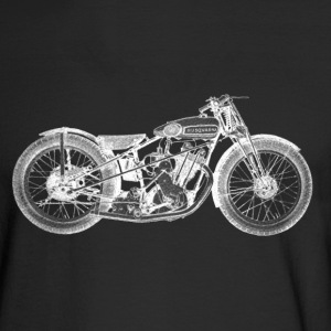 Vintage Motorcycle Shirt - 1931 Husqvarna | - Men's Long Sleeve T-Shirt