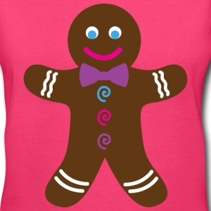 Pink Gingerbread Cookie T-Shirt - Women's V-Neck T-Shirt