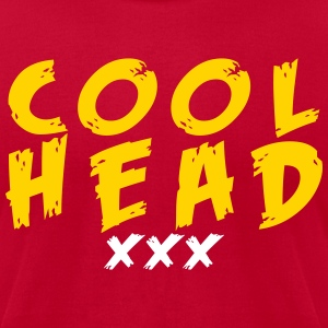 Cool Head Gold And Cranberry - Men's T-Shirt by American Apparel