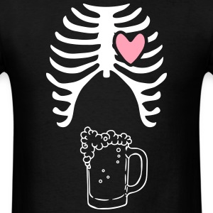 Beer xray Tshirt for dads to be - Men's T-Shirt