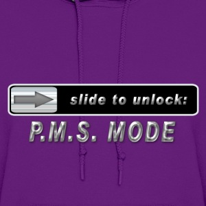 slide to unlock PMS mode Hoodies - Women's Hoodie