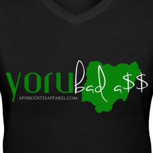 Yorubadass  - Women's V-Neck T-Shirt