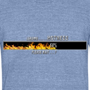 Loading HOTNESS  please wait flames 02 T-Shirts - Unisex Tri-Blend T-Shirt by American Apparel