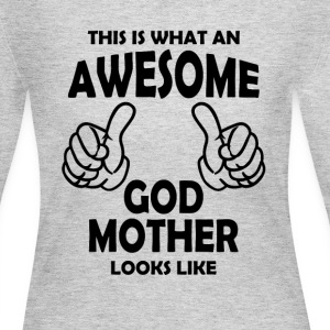 Awesome God Mother Long Sleeve Shirts - Women's Long Sleeve Jersey T-Shirt