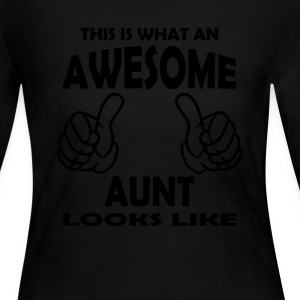 Awesome Aunt Long Sleeve Shirts - Women's Long Sleeve Jersey T-Shirt