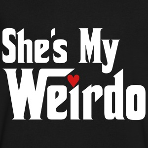 She's My Weirdo T-Shirts - Men's V-Neck T-Shirt by Canvas