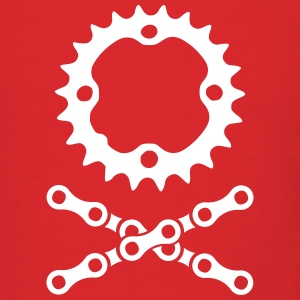 bike chain chainring skull crossbones T-Shirts - Men's T-Shirt