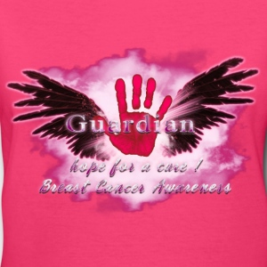 Guardian Angel hope for a cure Breast Cancer Aware Women's T-Shirts - Women's V-Neck T-Shirt