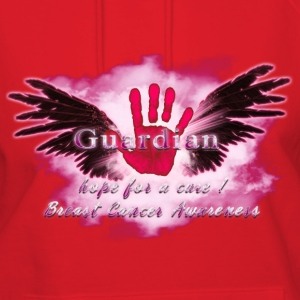 Guardian Angel hope for a cure Breast Cancer Aware Hoodies - Women's Hoodie