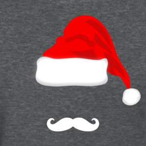 White Mustache and Santa Hat T-shirt - Women's T-Shirt