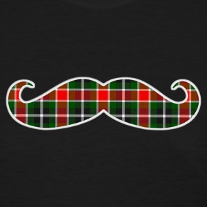 Christmas Plaid Mustache Womens T-shirt - Women's T-Shirt