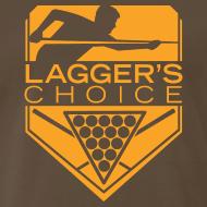 Design ~ Orange Logo Men's Short Sleeve Premium T-Shirt