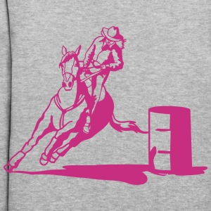 barrel racing lady with horse Hoodies - Women's Hoodie