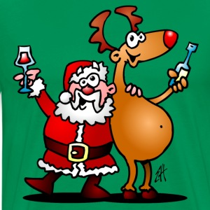 Santa Claus and his Reindeer T-Shirts - Men's Premium T-Shirt