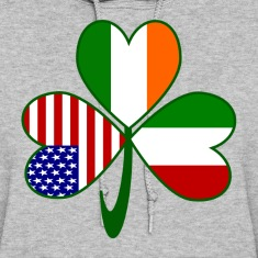 Italian Irish American Shamrock Hoodies