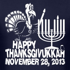 Happy Thanksgivukkah Turkey and Menorah T-shirt