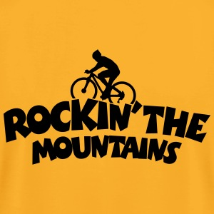 Mountainbike T-Shirt (Men Yellow) Back - Men's T-Shirt by American Apparel